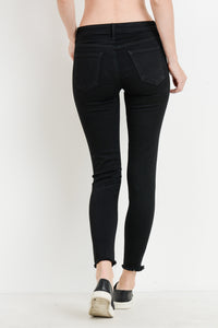 Distress Destroyed Skinny Stretchy Jean