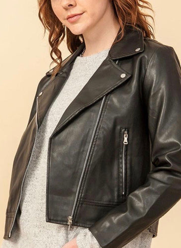 Faux Eco Leather Biker Jacket