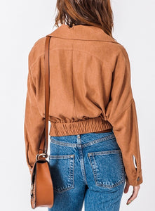 Drop Shoulder Asymmetrical Zip Jacket