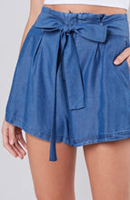 Load image into Gallery viewer, Denim Flowy Shorts