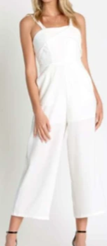 Thick Strap Wide Leg Crop Jumpsuit