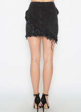 Load image into Gallery viewer, Zipper Ruffle Detail Stretch Mini Skirt