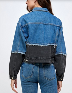 Two Tone 80's Inspired Denim Jacket