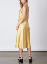 Load image into Gallery viewer, Satin Tie Midi Dress