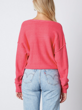 Load image into Gallery viewer, V Neck Drop Shoulder Sweater