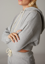 Load image into Gallery viewer, Hooded Cropped Sweatshirt