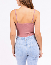 Load image into Gallery viewer, Daisy Trim Ribbed Thing Bodysuit