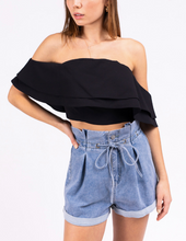 Load image into Gallery viewer, Ruffle Off The Shoulder Crop Top