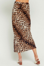 Load image into Gallery viewer, Leopard High Waisted Midi Skirt