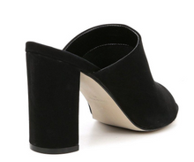Load image into Gallery viewer, Suede Open Toe Block Heel Sandal