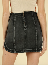 Load image into Gallery viewer, Denim Round Hem Mini Skirt