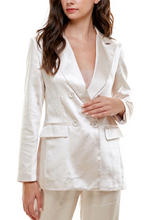 Load image into Gallery viewer, Satin Double Breasted Lined Blazer
