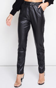 Faux Leather Four Pocket Pants