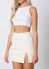 Load image into Gallery viewer, Corduroy High Waist Side Slit Mini Skirt