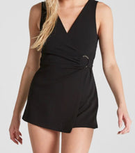 Load image into Gallery viewer, V Neck Buckle Wrap Romper