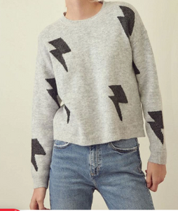 Mock Neck Lightening Sweater