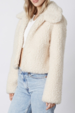 Furry Teddy Collar Jacket