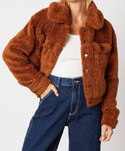 Load image into Gallery viewer, Double Front Chest Pocket Button Teddy Coat
