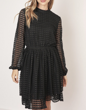 Load image into Gallery viewer, Bishop Sleeve Macrame Lace A Line Mini Dress
