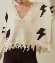 Load image into Gallery viewer, Lightening Distressed Oversized Sweater