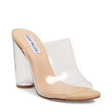 Load image into Gallery viewer, Lucite Stacked Heel Cinderella Sandal