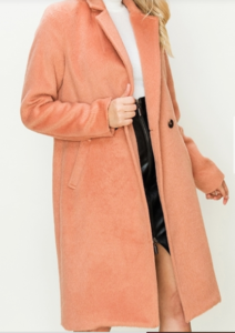 Two Button Pockets Long Coat