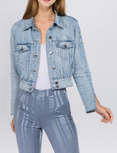 Load image into Gallery viewer, Puff Denim Jacket With Slit Detail Sleeves