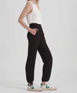 Drawstring Hem Tape Leg Pants