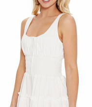 Load image into Gallery viewer, Smocked Waist Sleeveless Tiered Aline Mini Dress