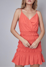 Load image into Gallery viewer, Faux Wrap Smocked Dress