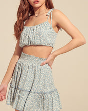 Load image into Gallery viewer, Smocked Waist Peasant Mini Skirt