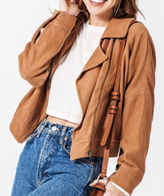 Load image into Gallery viewer, Drop Shoulder Asymmetrical Zip Jacket