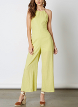 Load image into Gallery viewer, Linen Halter Tie Back Jumpsuit