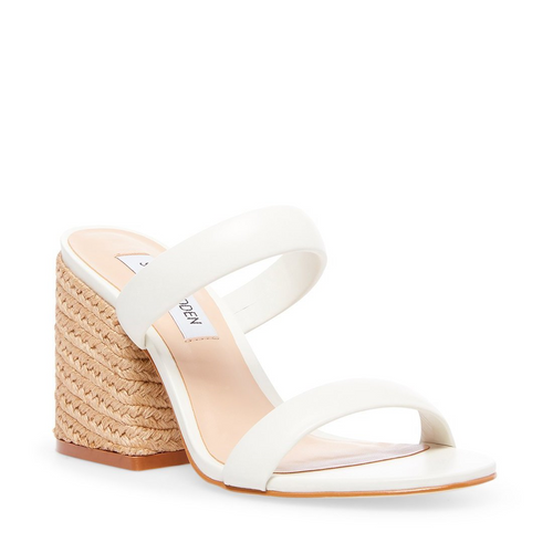 Leather Strap Jute Heel Sandal