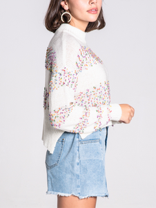 Crew Neck Confetti Sweater
