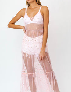 Tulle Mesh Star Sheer Festival Dress