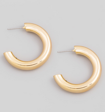 Load image into Gallery viewer, Post Back Chunky Hoop Earrings