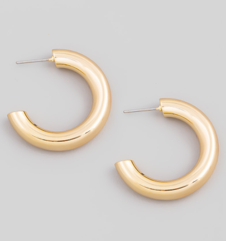 Post Back Chunky Hoop Earrings