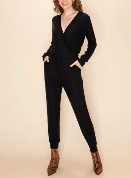 Fleece Surplus Long Sleeve Jumpsuit