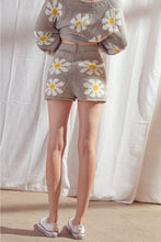 Load image into Gallery viewer, Daisy Knit Zipper Shorts