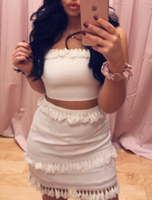 Load image into Gallery viewer, Tassel Fringe High Waist Mini Skirt