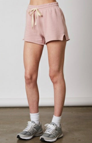 Raw Hem Notched Gym Shorts