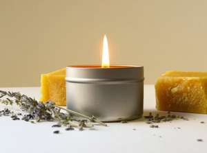 Beeswax Tin Candle