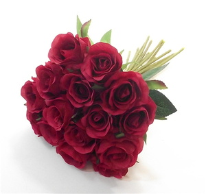 24cm Rosebud Bundle Red
