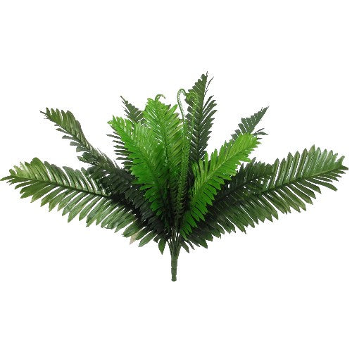 41cm Large Fern Bush Green