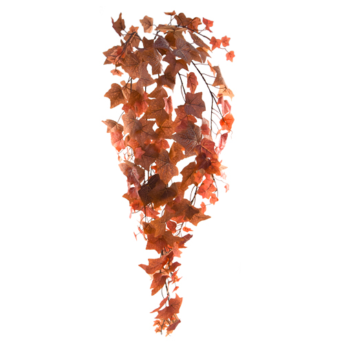 82cm LARGE FLOCKED AUTUMN IVY TRAIL RED/BROWN
