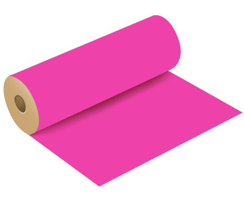 Kraft Paper Roll Polished Finish - Hot Pink - 50cm 120m