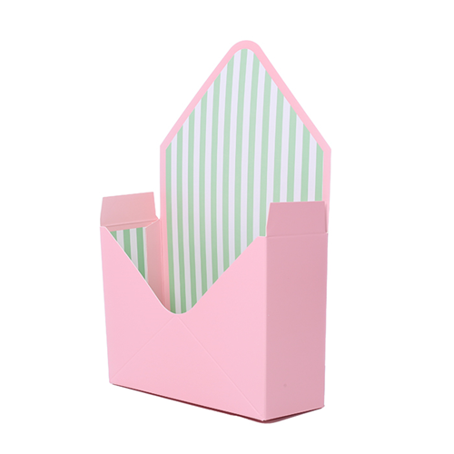 23cm Cardboard Envelope With Plastic Liner Pink/Green