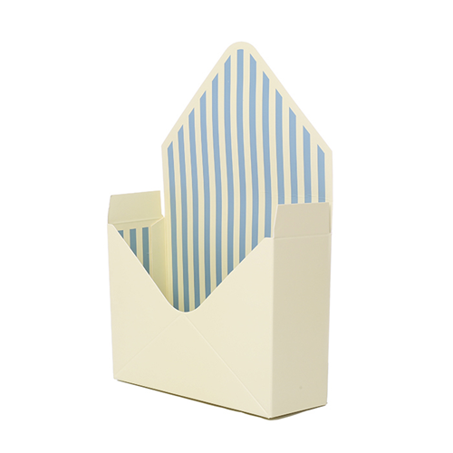 23cm Cardboard Envelope With Plastic Liner Cream/Green