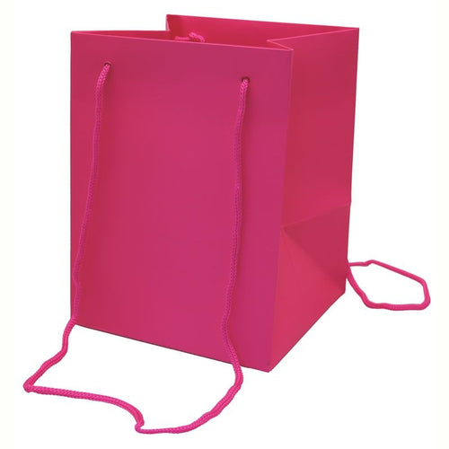 Pack of 10 - Cerise Hand Tie Bags